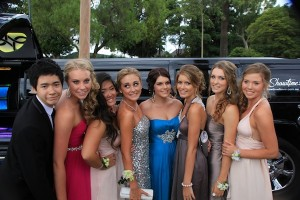Hummer hire Perth with the excited year 12 students at their School Ball in Perth.