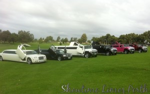 Showtime Limos Perth Fleet Photo. Panasonic Rewards Event in Perth.