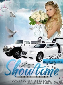 Wedding Cars Perth are available in a range of stretch limousine colours, however the white wedding limos Perth are still the traditional choice. Limousines Hire Perth.