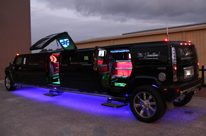Black Hummer Limo Hire Perth by Showtime Limousine Hire Perth with Jet Door