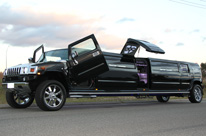 White Hummer Limo Perth Stretch H210 Jet Door Limousine by Showtime Limos Perth