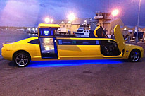 Bumblebee Transformer Limo Perth. Camaro exotic stretch limousine by Showtime Limousines Perth
