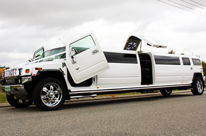 H210 White Hummer Limo Perth