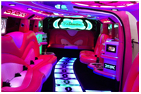 Party Limo Hire Perth Pink Limo Party H210 Jet Door Middle opening door Hummer Stretch Limousine