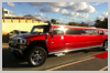 Candy Red Hummer Limousine hire Perth for School Ball or Wedding Limo Hire