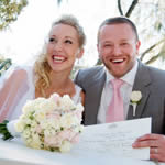 Perth Wedding Couple who hired Showtime Limo for their Wedding Limousine in Perth WA. Wedding Cars are an important part of the wedding day as it provides the bridal party access to all locations in Perth for Wedding Photos