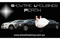 Wedding Photograph of bridal party nearby Silver Chrysler wedding cars Perth limo hire