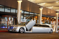 Wedding car Perth Silver Chrysler Limo Hire . Wedding at Crown Casino Ballroom Burswood