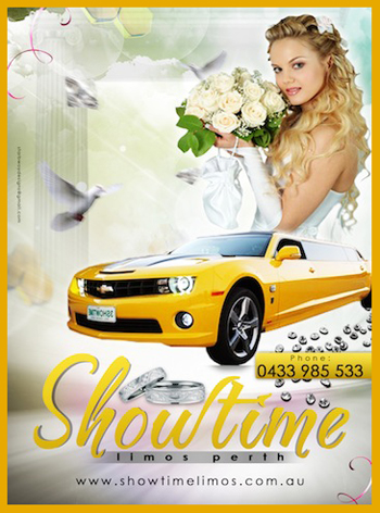 Bumblebee Camaro Transformers Limo for wedding cars Perth yellow Camaro Limo Bridal Door