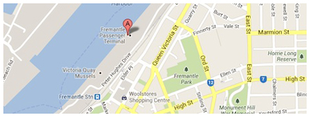 Fremantle Passenger Terminal Map for Cruise Ship pickup with Showtime limousine service Perth