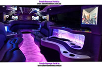 Inside the Purple Party Hummer Limousine