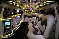 Silver Chrysler Perth Limo Hire. Wedding Cars Perth Interior design of stretch limousine