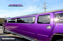 Vibrant Deep Purple Stretch Perth Hummer Limousine Hire