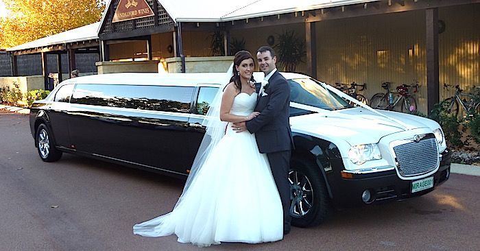 10 seater limo hire perth wedding car with extra bridal door black and white